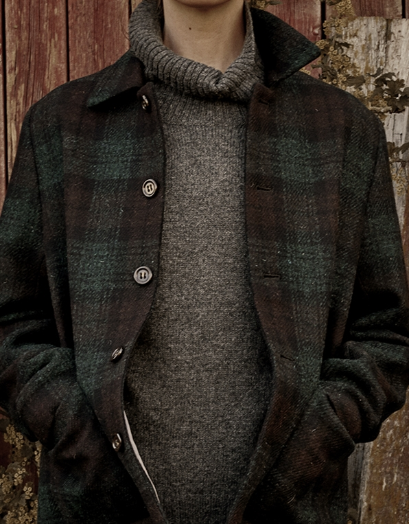 WOOL HARRIS TWEED CHECK 06