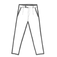 200230 low crotch trousers
