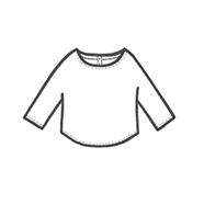 200237 cropped blouse